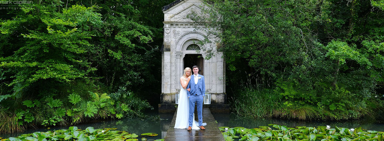 panoramic wedding portrait